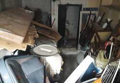 Şişlide bir evden kamyon dolusu çöp çıktı