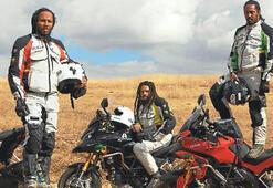 Bob Marley'nin oğulları motorla Afrika turunda
