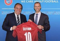 TFFden UEFA Başkanına ziyaret