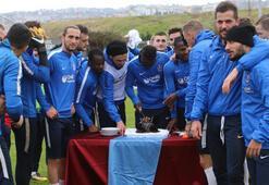 Trabzonsporda önce idman sonra doğum günü