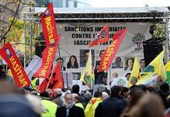 Brükselde terör örgütü PKK gösterisi