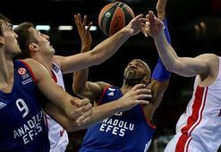 Anadolu Efes Avrupa Liginde sahasında yarın Olympiakosla karşılaşacak