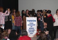TMMOB'nin kadın kurultayında kürsü işgal edildi