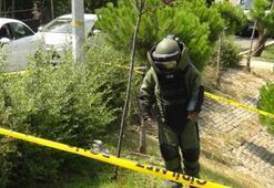 Çocuk parkında parça tesirli bomba bulundu