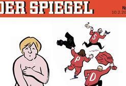 Olay yaratacak Merkel karikatürü Koltuk için her şeyi verdi