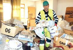 Çöp evde 250 bin liralık altın