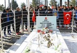 1461 Trabzondan Ömer Halisdemirin kabrine ziyaret