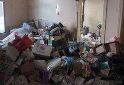 Malatyada çöp ev