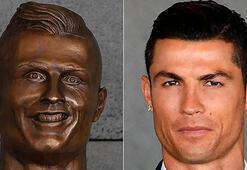 Ronaldo'nun büstüne Twitter hesabı açtılar