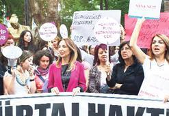 7 şehirde eş zamanlı kürtaj protestosu