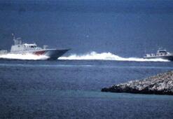 Kardakta Türk ve Yunan botları arasında kovalamaca