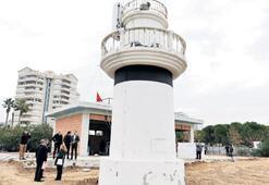 Antalya'nın simgesi  falezlerdeki Bababurnu Feneri imara açıldı