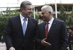 Başbakan Yıldırım, Gürcistanda Başbakanı ile görüştü