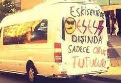 Eskişehirspor taraftarından güldüren pankart
