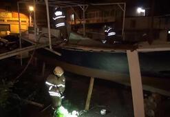 Tadilattaki teknede patlama meydana geldi