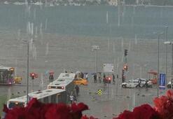 Üsküdarda yağmur nedeniyle artık karayla deniz birleşmeyecek