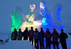 Sarıkamış Şehitleri anısına kardan heykel
