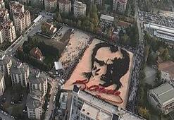 İşte dünyanın en büyük canlı Atatürk portresi
