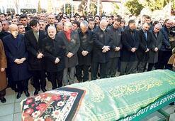 Cenaze törenine katıldı