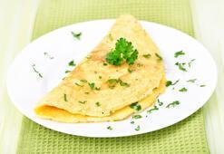 Tok tutan yulaf kepekli omlet tarifi
