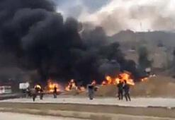 Tankerler peş peşe patladı