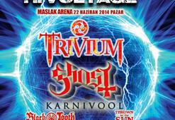 Trivium, Ghost ve Karnivool Hi-Voltage ile İstanbulda