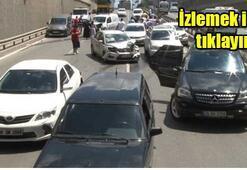 İstanbul'da 15 araç birbirine girdi