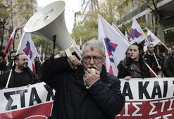 Yunanistanda basın mensupları grevde