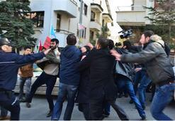 Eylemciler kavgaya tutuştu