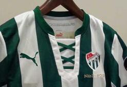 Bursaspor Efsane Çubuklu formayı giyiyor
