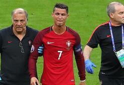 Ronaldonun göz yaşları