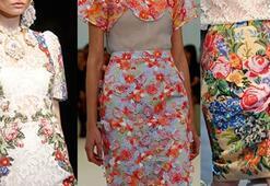 Sonbahar-Kış 2012 Trendi Çiçek Desenler