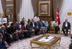 Cumhurbaşkanı Erdoğan ünlü isimleri kabul etti