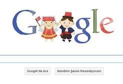 23 Nisan Ulusal Egemenlik ve Çocuk Bayramını tüm yurtla beraber Google da doodle ile kutluyor