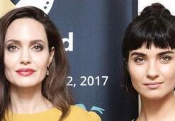Tuba Büyüküstün ve Angelina Jolie Los Angelesta buluştu