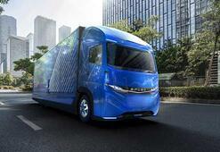 Daimler, Tesladan önce yeni tam elektrikli Kamyonu Vision Oneı duyurdu
