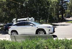 Appleın sürücüsüz otomobili kameralara yakalandı