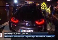Beşiktaş'ta zincirleme trafik kazası: 1 yaralı