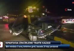 Ispartada zincirleme trafik kazası