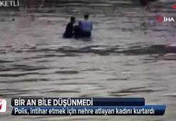 Nehre atlayan kadını böyle kurtardı