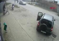 Sarhoş sürücünün neden olduğu kaza kamerada