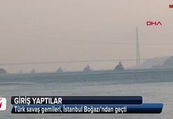 Türk savaş gemileri, İstanbul Boğazından böyle geçti