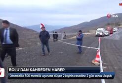 Kayıp olan 2 kişinin cesedi uçurumda bulundu