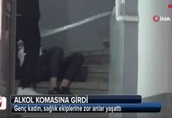 Eğlence mekanının merdivenlerde şok görüntü