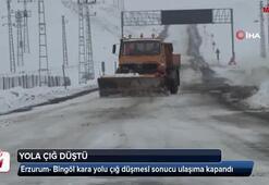 Erzurum- Bingöl kara yolu çığ düşmesi sonucu ulaşıma kapandı