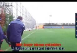 Emre Belözoğludan Barcelonalı oyuncuları kıskandıracak vuruşlar