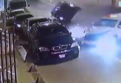 Ortalığı savaş alanına çeviren kaza kamerada