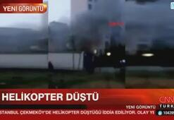 İstanbulda askeri helikopter düştü