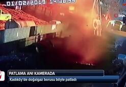 Kadıköy'de doğalgaz borusu böyle patladı