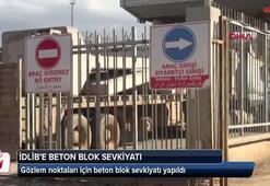 İdlibdeki gözlem noktaları için beton blok sevkiyatı